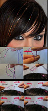 Hair Tinsel- Found on beauty-tutorials1.blogspot.com