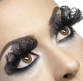 Black Lace Fabric Eyelashes