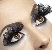Black Lace Fabric Eyelashes