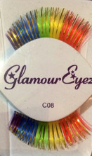 Rainbow with Gold Accents Eyelashes