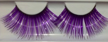 Extra Long Purple with Silver Accents Eyelashes
