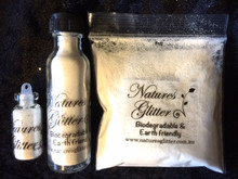 Natures Glitter White Fine cosmetic grade Biodegradable Glitter