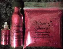 Natures Glitter Fine Magenta Biodegradable glitter