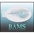 BAM Peacock Stencil