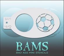 BAM Soccer Stencil