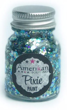 Splash Pixie Paint is a blend created especially for all  mermaids and lovers of sea creatures.  It's a holographic bubbly blend of pale blues and greens.