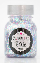Winter Wonderland Pixie Paint is a magical pastel blend of pinks, blues, and silver, with stars.  It is one of our sheer holographic blends that goes well with just about any colour.