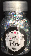 Xanadu Pixie Paint 1 oz is a holographic silver blend. It's like a disco ball in a bottle. Just gorgeous