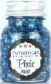 Midnight Blue Pixie Glitter is a deep blue with teal accents and lots of holographic highlights.