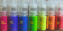 Neon/UV cosmetic grade glitter spray