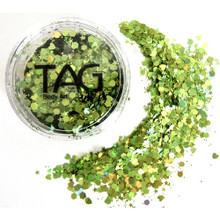 TAG Green Chunky Glitter Mix 10g