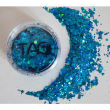 TAG Blue Chunky Glitter Mix 10g