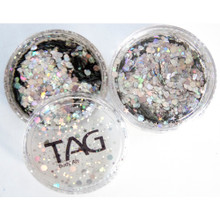 TAG Silver Chunky Glitter Mix 10g