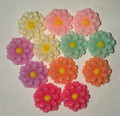 Flower  Beads  12mm x 12 pack assorted colours