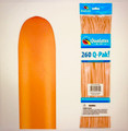 260Q Q-Pak Neon Orange Qualatex Plain Latex - Pack of 50