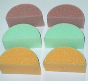 Pink and/or green seconds sponges- Please do not order these if you expect perfect sponges. They are usable, just not perfect