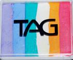 TAG Fairy Floss Rainbow Split Cake- Very pretty! Lilac, Powder Blue, Teal, White, Golden Orange & Pink
