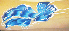 Butterfly painted with Dolphin by Lisa Marie