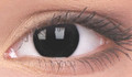 Black coloured contact lenses . Contains 1 pair with handy lens storage case.