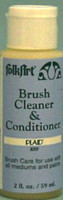 Plaid Brush Cleaner and Conditioner will help clean your brushes and preserve their shape and life.