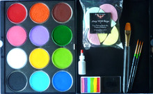 Starter Kit 1 contains :- 12 x TAG Regular 32g colours in a case- Black, White, Red, Yellow, Orange, Pink, Purple, Light Green, Mid Green, Light Blue, Royal Blue and Brown 4 x brushes-Roymac round  #2,#4,#6 & TAG #12 Filbert 1 x Regular Rainbow 50g 6 x Wicked Sponges 15 ml Holographic Silver Glitter in a puffer bottle.
