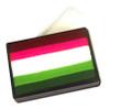 Paradise Prisma Fleur blender cake 50g FLEUR-  Beach Berry - Wine, Dark Pink, White, Lime, Light Green & Dark Green