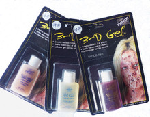 3D Gel by Mehron available in clear, skin tone or blood colour