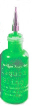 Electric Green Liquid Bling 15ml- Super bright! Comes with a metal tip for fine line work.