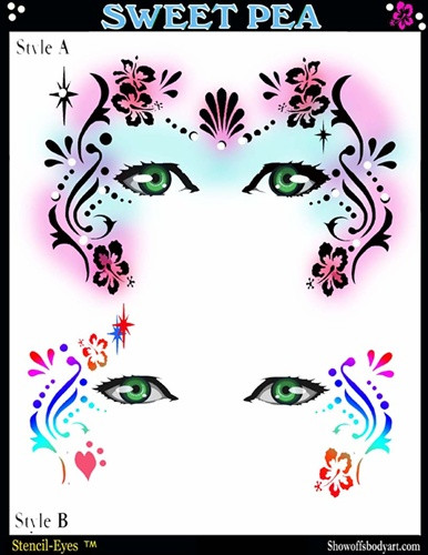 Airbrush/Face Painting Template Sweet Pea by Donna Nowak - Always ...