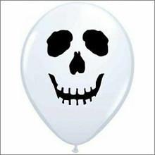Skull 12cm Latex Balloon 100 pack