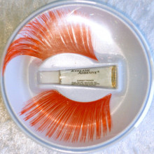 Extra long Red Eyelashes with adhesive