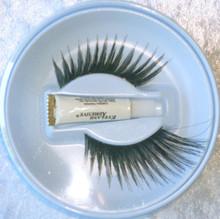 Extra Long Black Sweep Eyelashes with adhesive