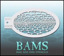 BAM Reptilian Back stencil