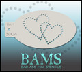 BAM Double Heart stencil 3004