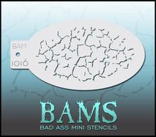 BAM Cracks stencil