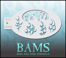 BAM Flames stencil
