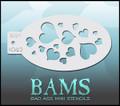 BAM Hearts stencil 1042