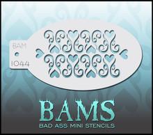 BAM Heart Swirl stencil