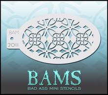 BAM Celtic Flower Stencil 2011