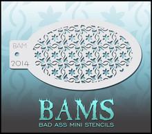 BAM Flower Weave Fine Stencil 2014