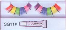 Neon Rainbow Eyelashes with adhesive