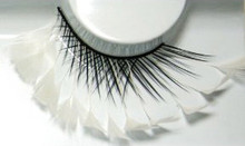 White Extended Feather Eyelashes
