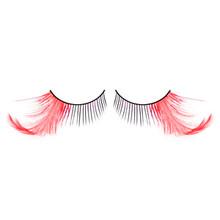 Long Red Feather Eyelashes