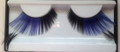 Blue with extended black feather eyelashes