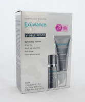 Exuviance Age Reverse Visible Proof-Set of 2 include 3 sample of Vespera Bionic Serum. Exuviance Visible Proof includes: Night Lift, 1.75 oz, Eye Contour 0.5 oz and 3 Exuviance Vespera Bionic Serum .07 fl oz packettes. Multi-antioxidants protect and secure the skin firming and smoothing benefits Targets uneven pigmentation