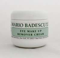 Mario Badescu Eye Make-up Remover Cream 4oz  Simple, gentle, gel-like cream that removes all eye make-up including waterproof mascara. Safe for contact lens wearers.   Instruction: Apply a small amount of product to lids and lashes with fingertip. Wipe with water-dampened cotton pads in a downward direction to remove all traces of eye make-up. Cleanse face as usual.