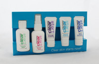 Breakout Clearing Kit clear breakouts on the go  This travel-friendly medicated kit is tough on breakouts, yet gentle on your skin  1. Foaming Wash 1.7oz  2. All Over Toner 1.7oz  3. Pvernight Treatment 0.5oz  3. Daytime Treatment 0.5oz  4. Matte Moisrurizer 0.5oz