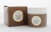 Lalicious Extraordinary Whipped Brown Vanilla Sugar Scrub, 16oz  Experience a body treatment like no other. Pure Brown Sugar Cane crystals gently slough away dry skin cells to reveal a youthful and even skin tone. Cold-pressed Coconut and Sweet Almond Oils nourish and deeply moisturize, leaving skin deliciously soft. Discover luminous skin from head to toe with this rich souffl̩é of vanilla and caramel.  Instruction:  Gentle enough to use every day. At the end of your shower or bath, scoop a generous amount of the whipped sugar scrub into hands and massage into skin, buffing in a circular motion. Rinse with warm water. Coconut Oil melts in warmer temperatures. Please store between 65-85 degrees. All-natural and paraben-free. Please, no tasting.  Ingredients Sucrose (Cane Sugar), Cocos Nucifera (Coconut) Oil, Prunus Amygdalus Dulcis (Sweet Almond) Oil, Fragrance (Parfum), Tocopherol, Glycine Soja (Soybean) Oil, Honey (Mel).
