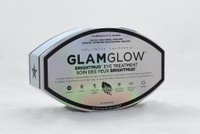 GlamGlow Brightmud Eye Treatment  Size 12 Chromecells  A reverse action undereye and orbital eye treatment.   This product is designed for results in as little as three minutes, for men and women, and for all ages and skin types.   What it is formulated to do: Non-Dry Tapwipe™ Bioactive Mud consists of powerful actives that help minimize puffiness, dark circles, and fine lines while brightening and hydrating the eyes. Natural high bioactivity materials and bentonites absorb toxins delivering high nutrients and minerals essential for ultrabright, amazing eyes. Simply tap-on to deliver the range of advanced active ingredients into the skin then wipe-off, leaving a micro layer of actives for extended results.   What it is formulated WITHOUT: - Parabens - Sulfates  - Phthalates   Instruction:  Suggested Usage: -Use one dual ChromeCell™ per use, two to three times per week or when needed. -Close eye and tap on an even layer using the entire product under eye or orbital eye. -Leave on for three minutes. -Close eye and slowly wipe off with a soft, dry tissue, using a clean part for each wipe.   Precautions: -Do not allow product to dry. If product dries, wash off with water. -Do not allow product to touch eye. If so, rinse eye with water and if needed, seek medical assistance.