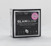 GlamGlow YouthMud Tinglexfoliate Treatment  Size: 0.5oz  A 10-minute professional-quality mud mask for men and women.   What it is formulated to do: This mud mask leaves skin noticeably radiant and glowing. It works with the body's natural moisturizing collagen to provide gentle resurfacing exfoliation and helps to leave skin smoother, brighter, and softer. While providing tighter skin texture and tighter pores, it provides a more youthful appearance and absorbs impurities without removing natural oils.   It is formulated WITHOUT: - Parabens - Sulfates  - Phthalates   Instruction:  -Apply a thin layer to clean face (can also be used on the neck and chest). -Remove mask with water in circular motions to exfoliate. -Use twice a week or as often as desired. -Seal lid tightly. -To re-liquefy, add drops purified water and stir.